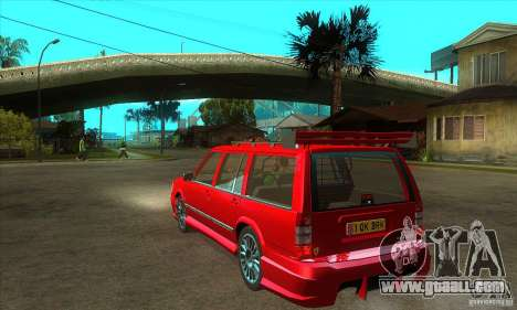 Volvo 945 Wentworth R with bodykit (1.2) for GTA San Andreas back left view