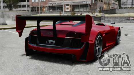 Audi R8 Spider Body Kit Final for GTA 4 back left view