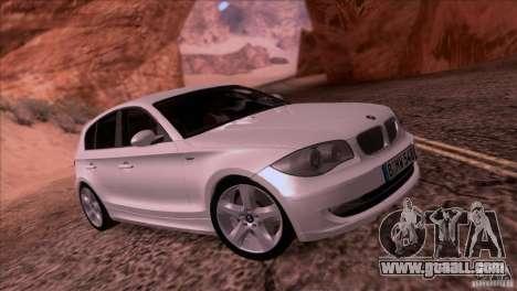 BMW 120i 2009 for GTA San Andreas