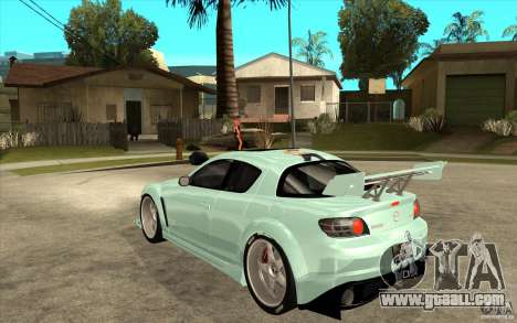 Mazda RX8 Underground Tuning for GTA San Andreas back left view