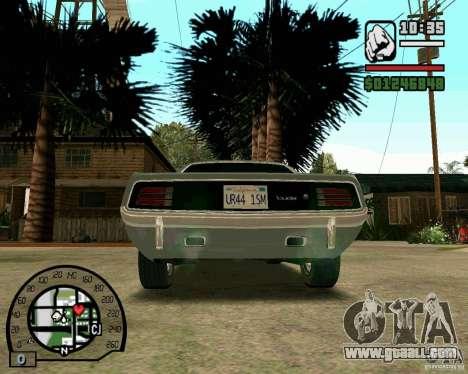 Plymouth Hemi Cuda 440 for GTA San Andreas back left view