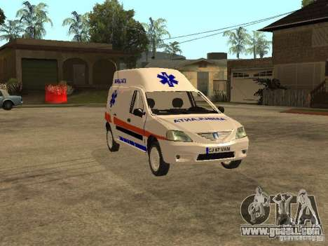 Dacia Logan Ambulanta for GTA San Andreas