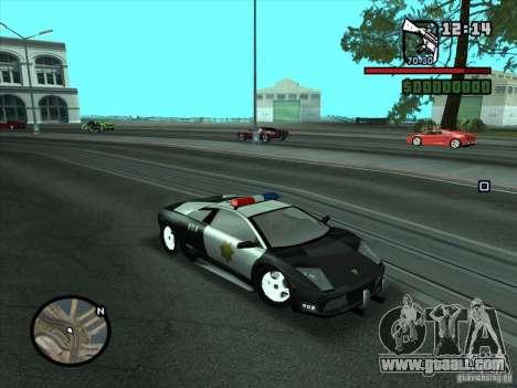 Lamborghini Murcielago Police for GTA San Andreas right view