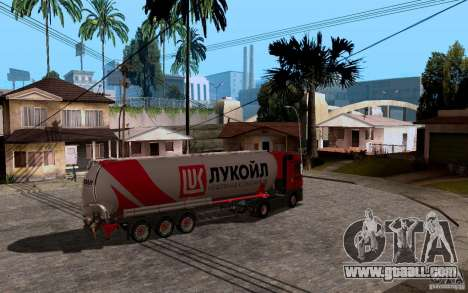 Trailer of Lukoil for Mercedes-Benz Actros for GTA San Andreas right view