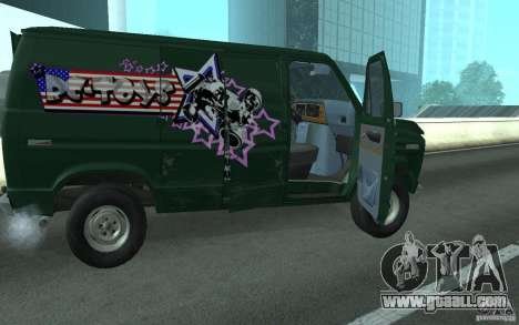 Ford E-150 Short Version v1 for GTA San Andreas back left view