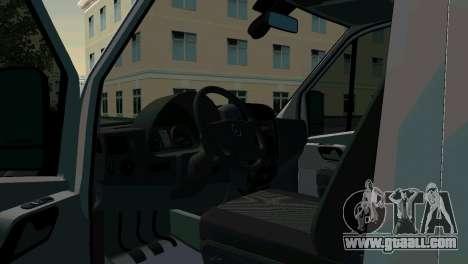 Mercedes-Benz Sprinter Resuscitation for GTA San Andreas back left view
