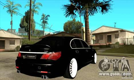 BMW 7-er F02 HAMANN 2010 for GTA San Andreas right view
