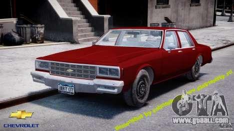 Chevrolet Impala 1983 v2.0 for GTA 4