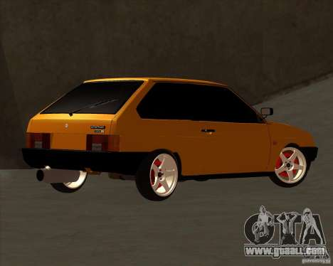 VAZ 2108 (version with white discs) for GTA San Andreas back view