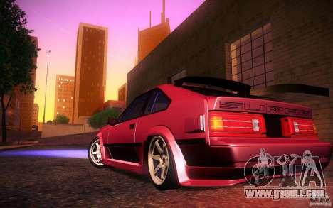 Toyota Supra Drift for GTA San Andreas upper view