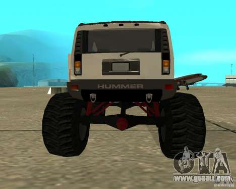 Hummer H2 MONSTER for GTA San Andreas back left view