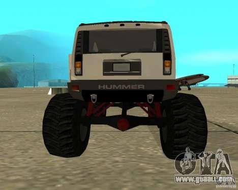 Hummer H2 MONSTER for GTA San Andreas back left view