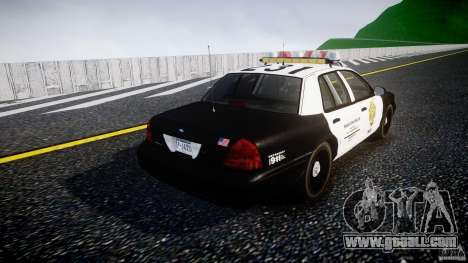 Ford Crown Victoria Raccoon City Police Car for GTA 4 side view