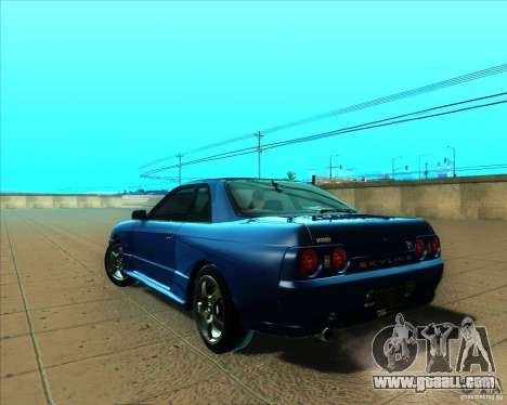 Nissan Skyline GT-R R32 1993 Tunable for GTA San Andreas back view