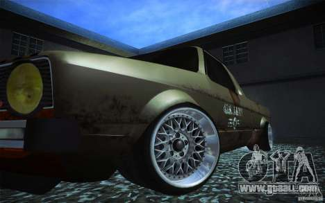 US Army Volkswagen Caddy for GTA San Andreas back view
