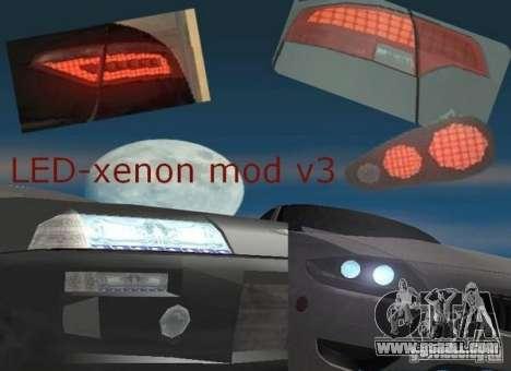 LED-xenon mod v3.0 for GTA San Andreas