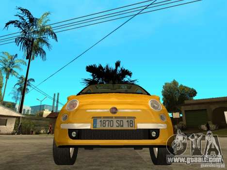 Fiat 500 C for GTA San Andreas right view