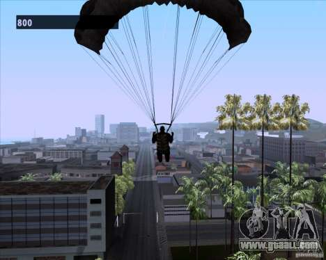 Black Ops Parachute for GTA San Andreas fifth screenshot