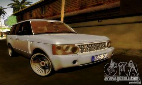 Range Rover Supercharged for GTA San Andreas interior