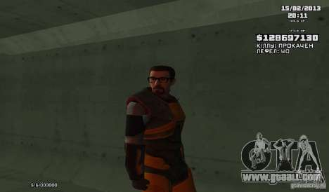 Gordon Freeman for GTA San Andreas