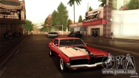 Mercury Cougar Eliminator 1970 for GTA San Andreas right view