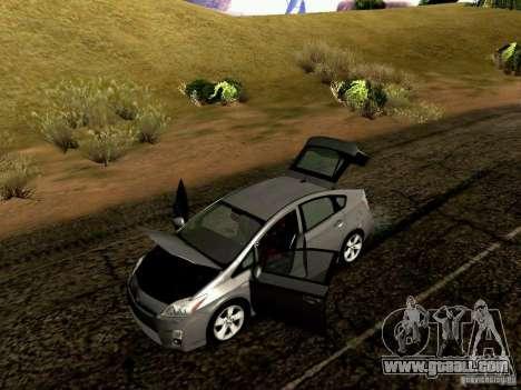 Toyota Prius Hybrid 2011 for GTA San Andreas inner view