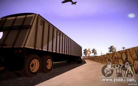 Dumper Trailer for GTA San Andreas back left view