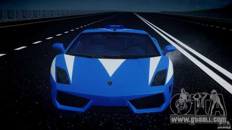 Lamborghini Gallardo LP560-4 Polizia for GTA 4 engine