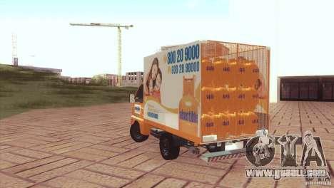 Hafei Camion de Gas for GTA San Andreas left view