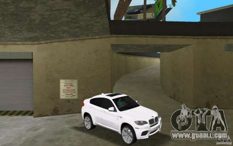 BMW X6M 2010 for GTA Vice City back view
