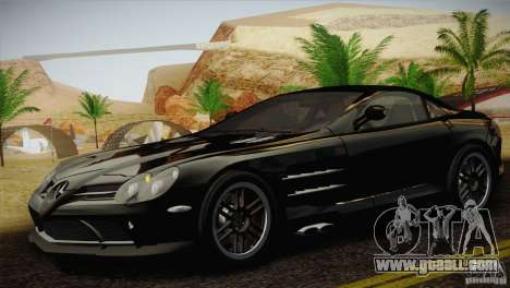 Mercedes SLR McLaren 722 Edition Final for GTA San Andreas back left view