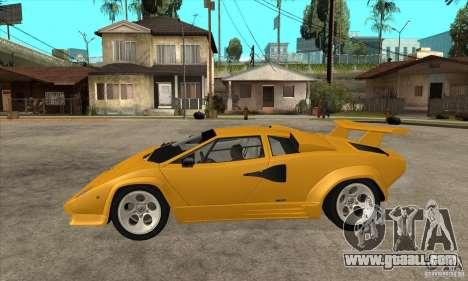 Lamborghini Countach for GTA San Andreas left view
