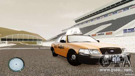 Ford Crown Victoria 2003 NYC Taxi for GTA 4 back view
