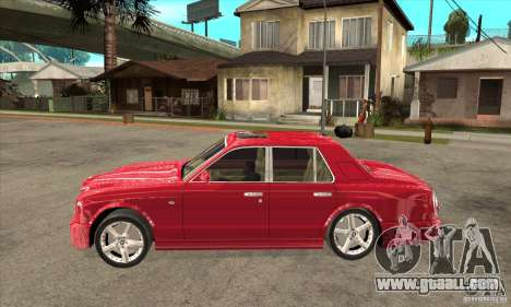 Bentley Arnage T for GTA San Andreas back left view