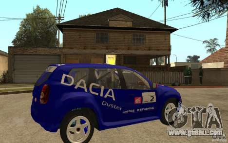 Dacia Duster Rally for GTA San Andreas right view