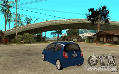 Citroen C2 - Stock for GTA San Andreas back left view