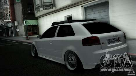 Audi S3 Euro for GTA San Andreas back left view