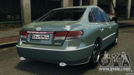 Hyundai Azera for GTA 4 back left view