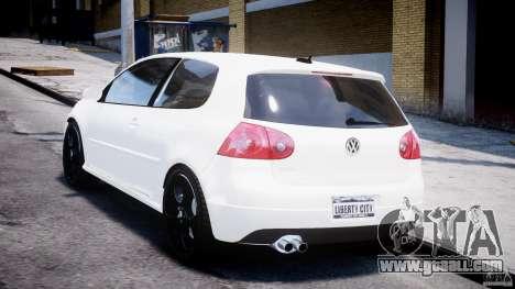 Volkswagen Golf 5 GTI for GTA 4 back left view