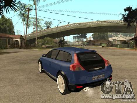 VOLVO C30 Sport 2009 for GTA San Andreas back left view
