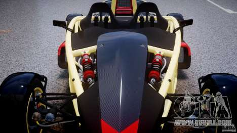 Ariel Atom 3 V8 2012 for GTA 4 bottom view