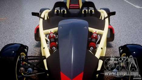 Ariel Atom 3 V8 2012 for GTA 4 bottom view