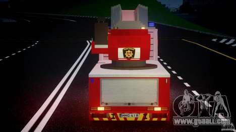 Scania R580 Fire ladder PK106 for GTA 4 bottom view