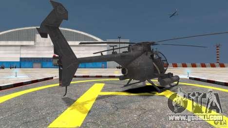 New AH-6 Little Bird for GTA 4 back left view