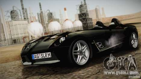 Mercedes-Benz SLR Stirling Moss 2005 for GTA San Andreas inner view