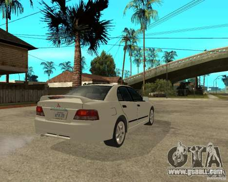 Mitsubishi Galant VR6 for GTA San Andreas back left view