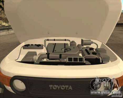 Toyota FJ Cruiser for GTA San Andreas upper view
