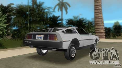 DeLorean for GTA Vice City back left view