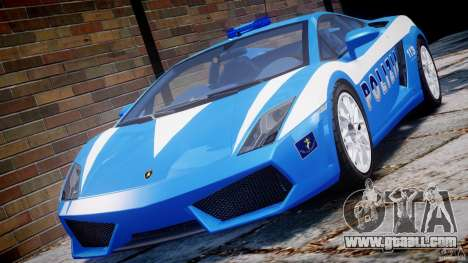 Lamborghini Gallardo LP560-4 Polizia for GTA 4