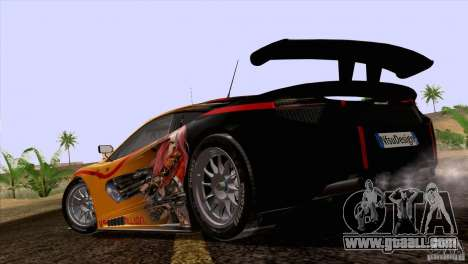 Painting works McLaren MP4-12 c Speedhunters for GTA San Andreas back view